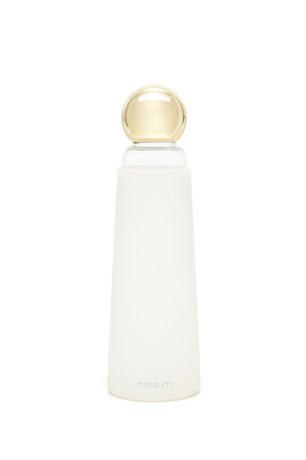 Ban.dō Cool It Water Bottle- White & Gold
