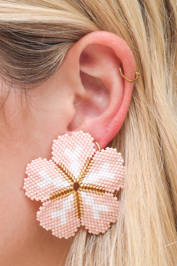 Hanging Out Earrings - Light Pink