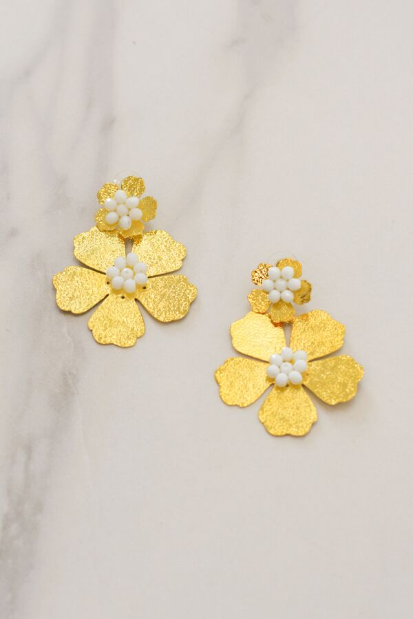 Daisy Days Earrings - White