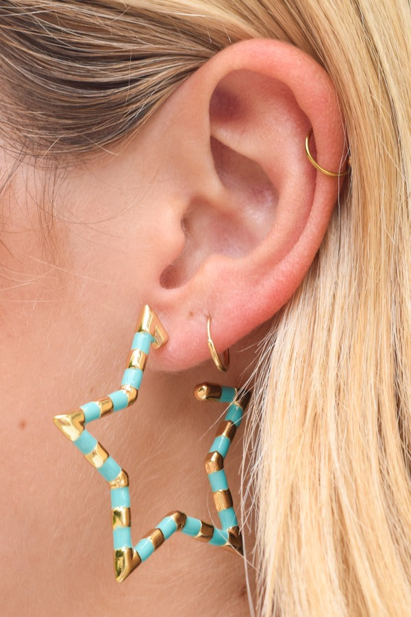 Star Bright Earrings - Turquoise