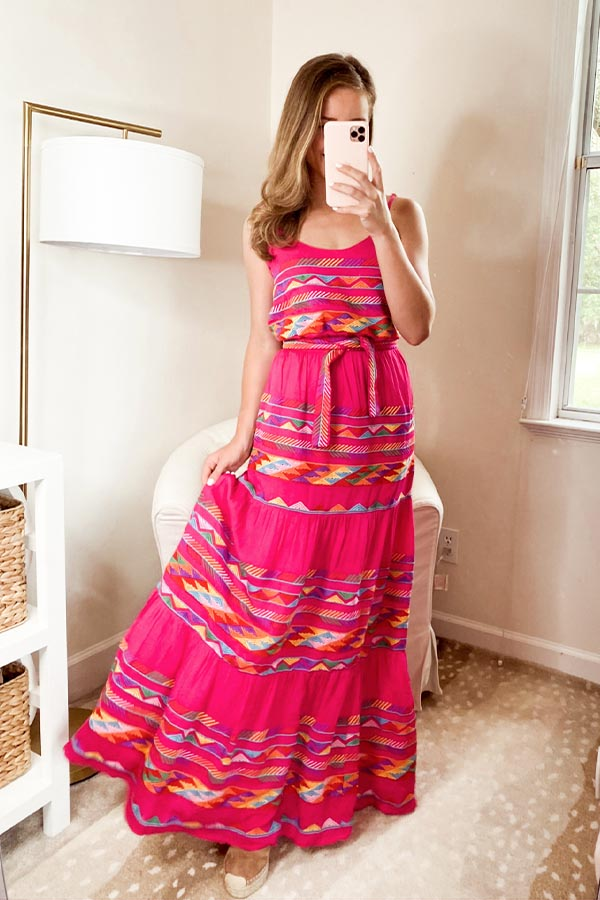 The Mallory Maxi Dress - Pink