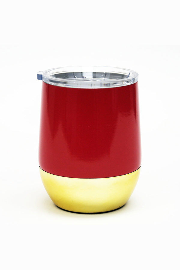 Stemless Wine Tumbler- Red