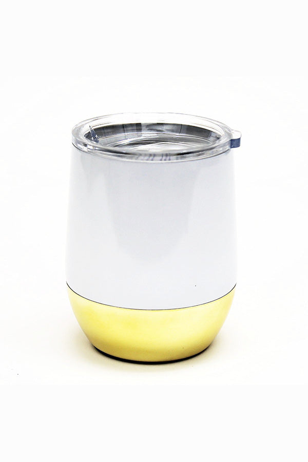 Stemless Wine Tumbler- White