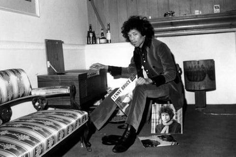 Jimi Hendrix Listening To Vinyl