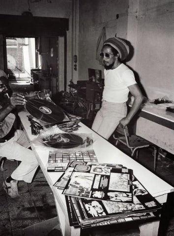 Bob Marley Listening To Vinyl