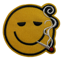 Weed Smoking Emoji Patch