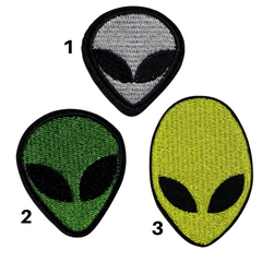 Alien Head Patches