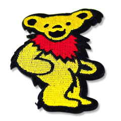 Grateful Dead Dancing Bear Patch (Yellow)