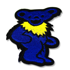 Grateful Dead Dancing Bear Patch (Blue)