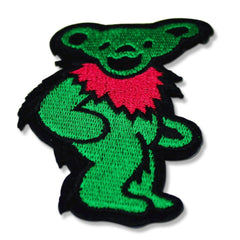 Grateful Dead Dancing Bear Patch (Green)
