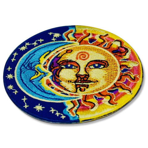 psychedelic sun and moon patch