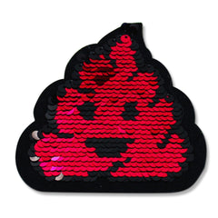 Sequined Poop Emoji patch