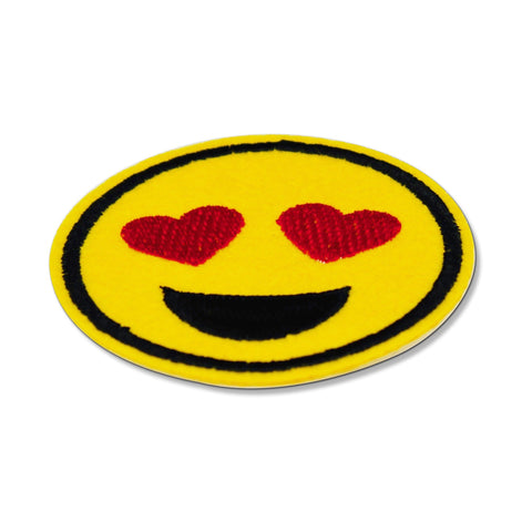heart eye emoji patch