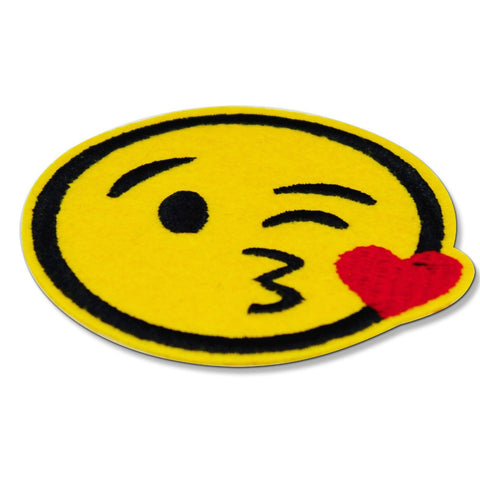 Face Throwing A Kiss Emoji Patch