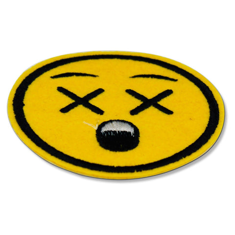 x eyes emoji patch