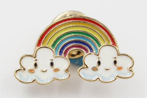 Rainbow With Clouds On The Ends Pin