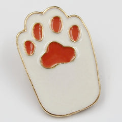 White Cat Paw Pin