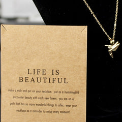 Life Is Beautiful Charm Necklace