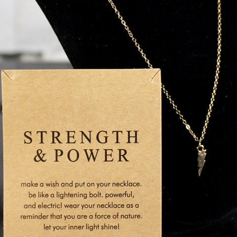 Strength & Power Charm Necklace