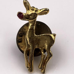 Red-nosed Reindeer Pin