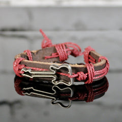 Leather Guitar Bracelet