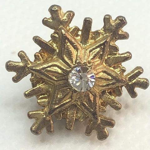Golden Snowflake Pin