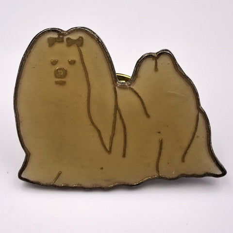 Maltese Dog Pin