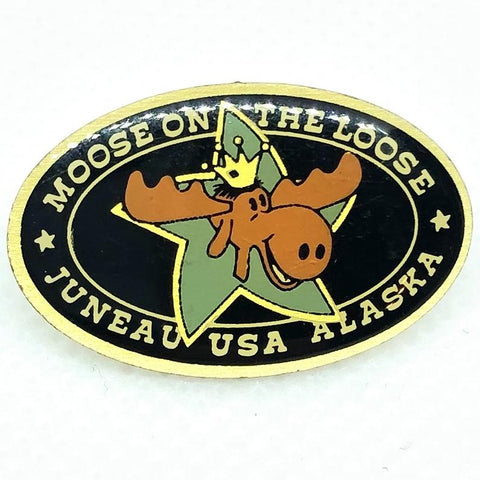 Moose on The Loose Juneau USA Alaska Pin