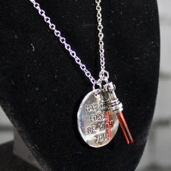 "Star Wars ""May The Force Be With You"" Necklace"