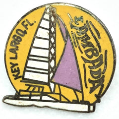 Key Largo, Florida Sailboat Pin