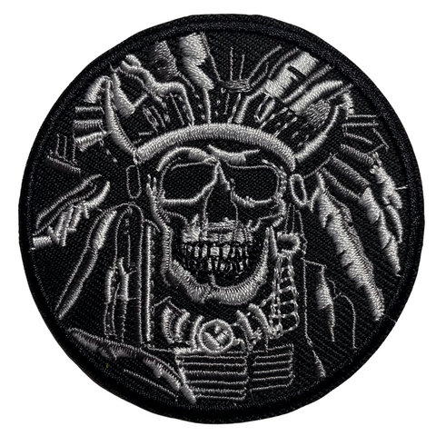 Native American Skull Patch