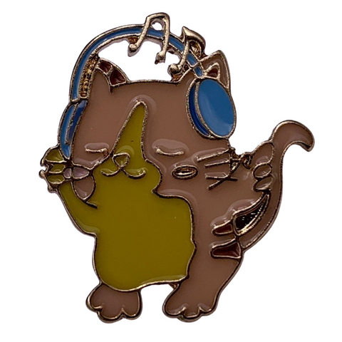 Cat DJ Pin