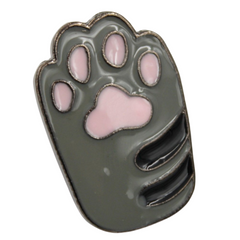 Gray Cat Paw Pin