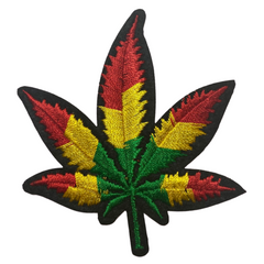 Rasta Cannabis Leaf Patch