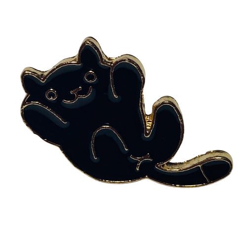 Happy Black Cat Pin