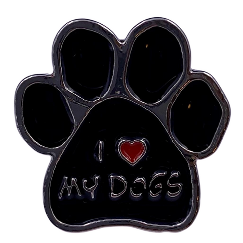 I Love My Dogs Pin