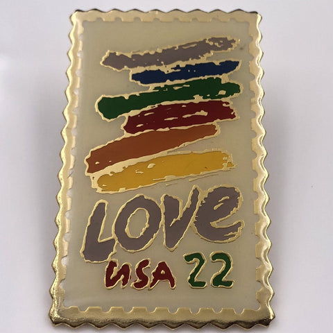 Love USA 22 cents Stamp Pin