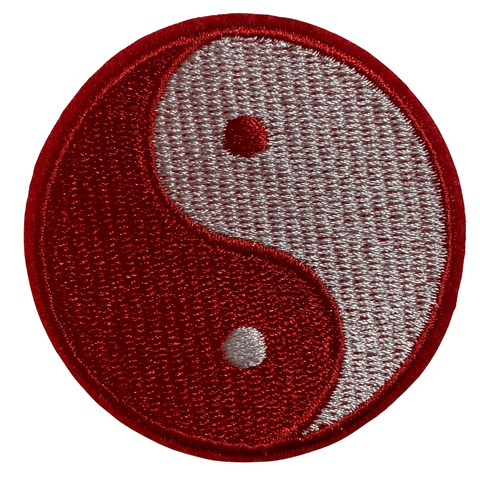 Red Yin Yang Patch