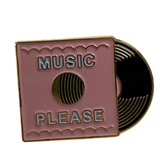 Music Please Vinyl Record Pin