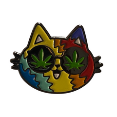Cannabis Cat Pin