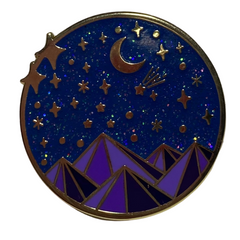 Stars & Mountains Pin