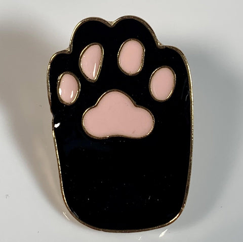 Black Cat Paw Pin