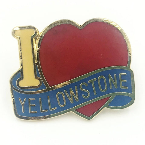 i love yellowstone pin