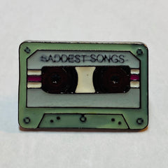 Saddest Songs Cassette Pin