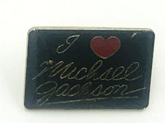 I Love Michael Jackson Pin