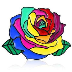 Love Is Love Rainbow Flower Pride Pin