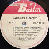 Jamaica's Greatest (LP, Comp) (M)