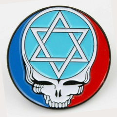 Grateful Dead Star of David Pin