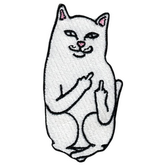 Middle Finger Cat Patch