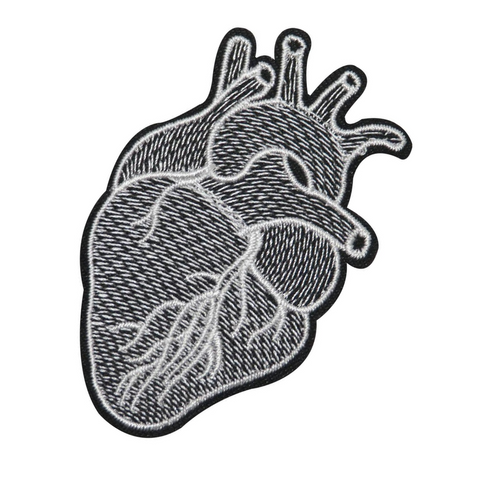 Black White Heart Patch